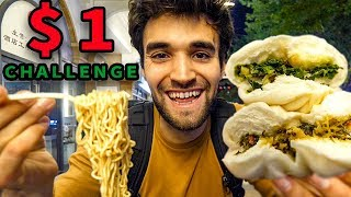 LIVING on $1 CHINESE STREET FOOD for 24 HOURS!