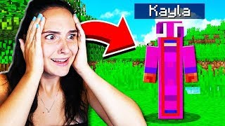 MAKING MY GIRLFRIEND A MINECRAFT ACCOUNT!
