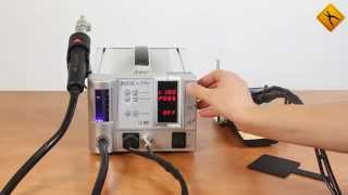 AOYUE 2738A+, Термовоздушная паяльная станция для бессвинцовой пайки от компании Parts4Tablet - видео
