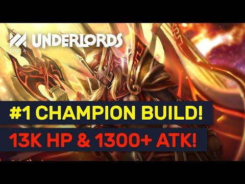 BEST CHAMPION BUILD?! Insane HP & DMG Legion Commander Brawny Build! | Dota Underlords