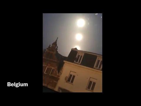 Deze drie heldere onbekende objecten zijn op 17 december 2020 boven België gefilmd