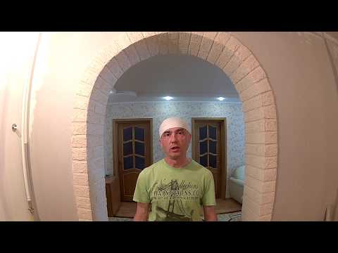 """Декор арки в стиле ЛОФТ. Имитация кирпича из штукатурки """"Волма - слой"""" !"""
