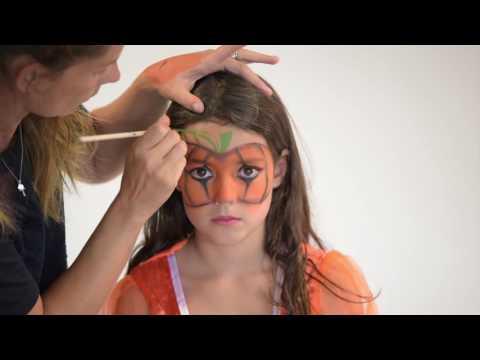 Tutorial de maquilhagem Halloween criança abóbora