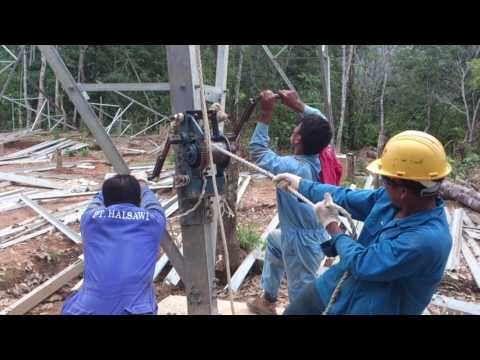 Erection tower sutet 275kv  menaikkan gimpol