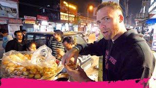 Indian STREET FOOD Tour at Night - Momos, Vada Pav & Chicken Tandoori | Jorhat, Assam, India