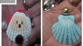 DIY Alert: Dollar Tree Items Into Santa Shell Ornaments And Angel Ornaments