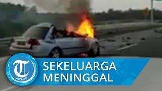 Video Detik-detik Kecelakaan Maut Tol di Lampung, Satu Keluarga Tewas Terbakar