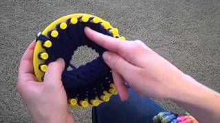 How to make a brim on a knit hat.