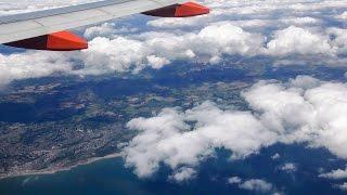 Milan Malpensa to London Gatwick. Full Flight. Italian Lakes and Alps, The English Channel