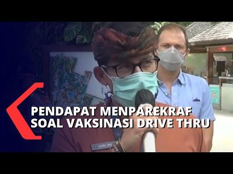 Menparekraf Sandiaga Uno Pertimbangkan Vaksinasi Drive Thru