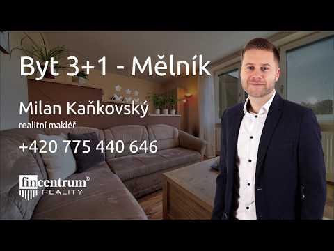 Prodej bytu 3+1 71 m2 Vlasákova, Mělník
