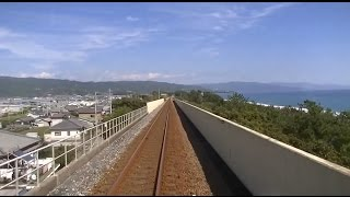 Japan train ride cab view HD with original sound.