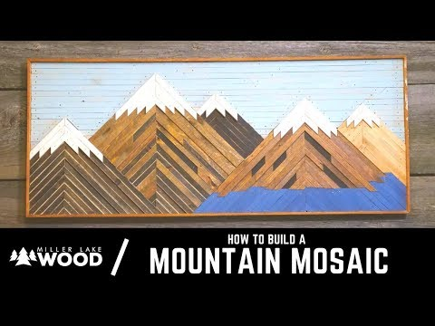 How To Build A Mountain Mosaic   From Start to Finish