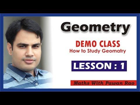 DEMO CLASS OF GEOMETRY | LESSON 1 | PAWAN RAO SIR