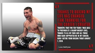 Lucas Matthysse retires from the sport of boxing | Official statement