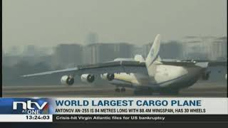 The world's largest cargo plane, the massive Antonov An-225, landed