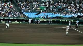 20180820金足農業vs日大三高6回表1死9番斎藤6送りバント