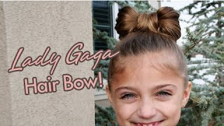 Lady Gaga Hair Bow   Updos   Cute Girls Hairstyles