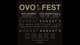Drake Announces OVO Fest 2019 Lineup, B2K, Lloyd, Mario, Bobby V, Pretty Ricky & More