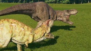 Giganotosaurus VS T-Rex - Jurassic World Evolution