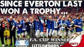 It was 22 years ago today that Everton last won a trophy