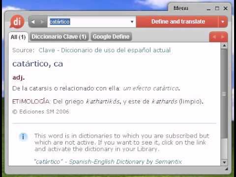 Definición de catártico