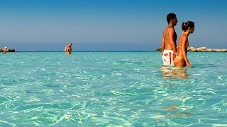 preview picture of video 'Nissi Beach Ayia Napa, Crystal Clear water - Oct.2014'
