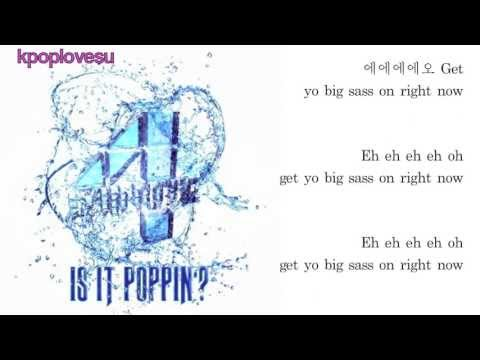 4MINUTE - Is It Poppin'? (English/Romanized/Hangul) lyrics by kpoplovesu