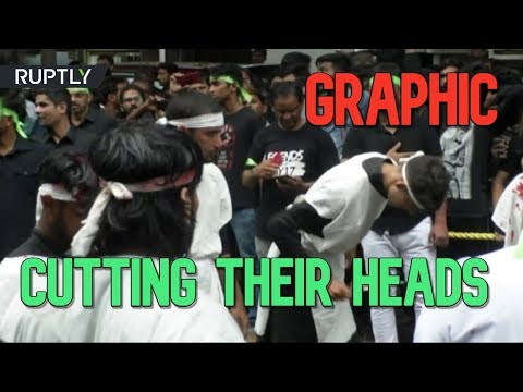 GRAPHIC: Indian Shia Muslims cut their heads with knives to mourn Prophet Muhammad's grandson