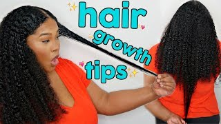 How To GROW Natural Hair LONG And FAST | My Top Tips For Maximum Hair Growth