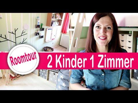 6 qm Kleines KINDERZIMMER Roomtour + DIY   Geschwister Zimmer    2 Kinder 1 Kinderzimmer😱   Rebekka