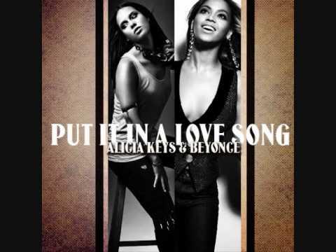 Alicia Keys ft. Beyoncé - Put It In A Love Song [Instrumental] HQ