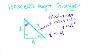 Introduction To Geometry   11   Special Right Triangles