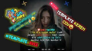 Quotes Video Kine Master dan Ave Player + Tutorial | Template#2