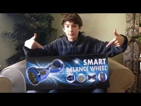 8 Inch Lamborghini Bluetooth Hoverboard UNBOXING AND REVIEW! (Smart Balance Wheel)