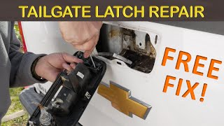 CHEVY SILVERADO TAILGATE LATCH/LOCK REPAIR