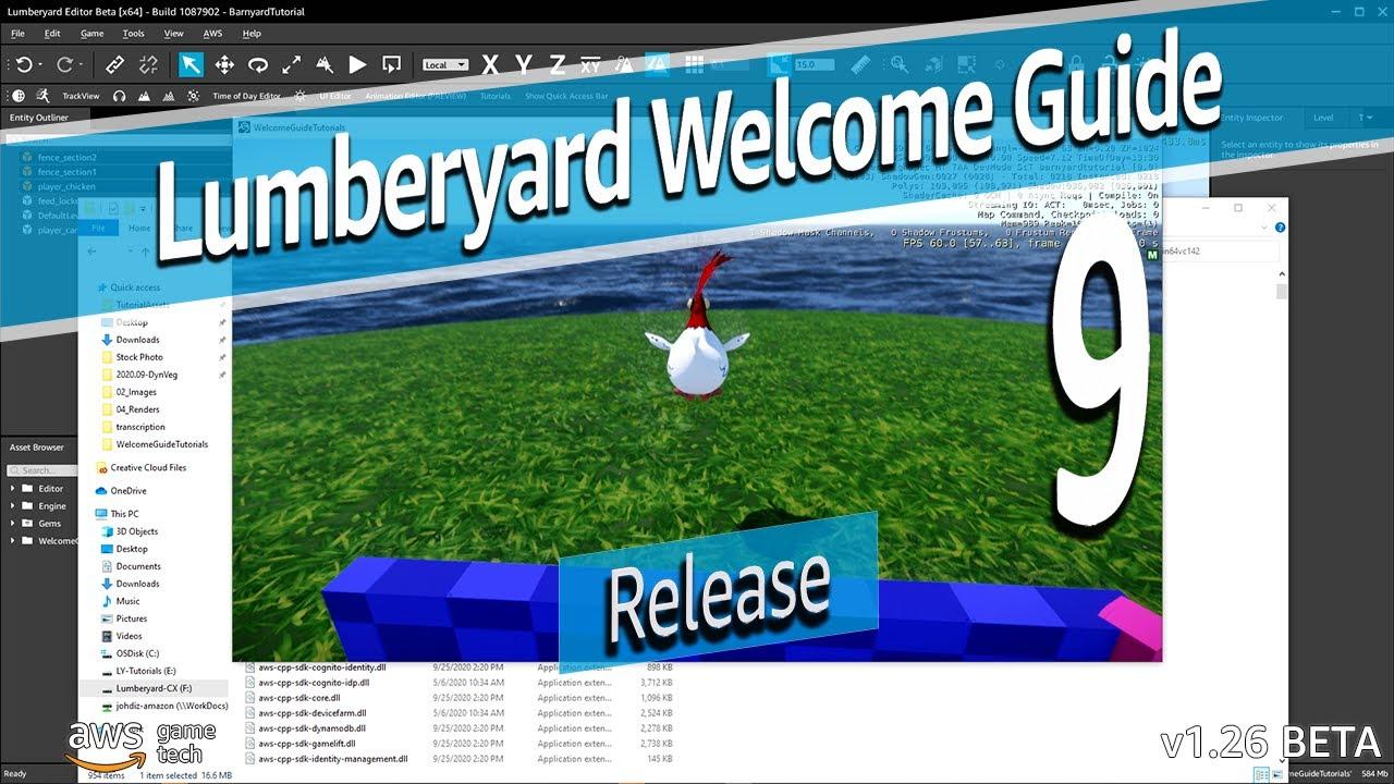 Amazon Lumberyard Engine Welcome Guide Tutorial Part 9