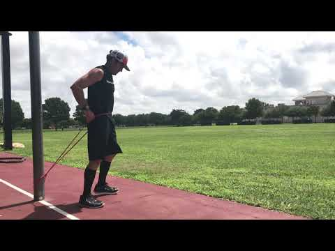 Burpee w/strength band resistance
