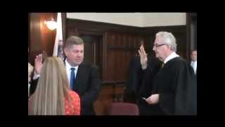 preview picture of video 'Derek Champagne Sworn In as Family Court Judge for Franklin County'