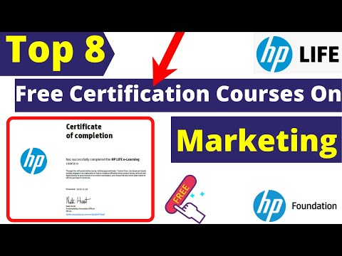 Top 8 Free Certification Courses On Marketing By Hp Life | Hp ...