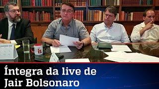 Íntegra da live do presidente Jair Bolsonaro desta quinta-feira