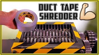 Shredding 7 Different Duct Tapes with Shredder - Video Youtube