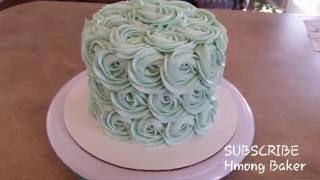 Rosette Cake. Baby Shower Cake.