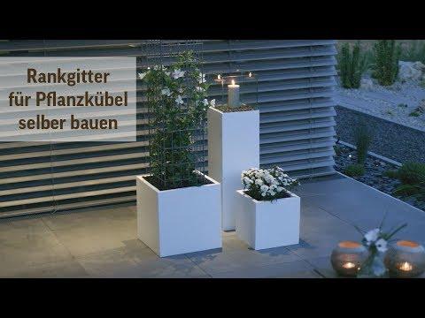 Rankgitter selber bauen - Pflanzkübel Rankhilfe DIY Bauanleitung
