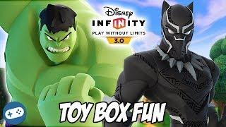 Black Panther And Hulk Disney Infinity 3.0 Toy Box Fun Gameplay