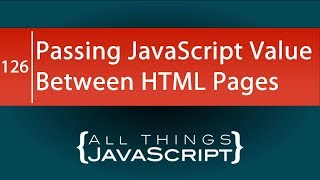 JavaScript Problem: Passing a JavaScript Value Between HTML Pages