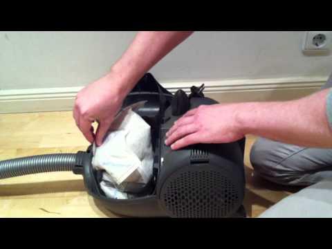 Wie wechselt man einen Staubsaugerbeutel?