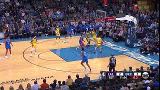 1st Quarter, One Box Video: Oklahoma City Thunder vs. Los Angeles Lakers