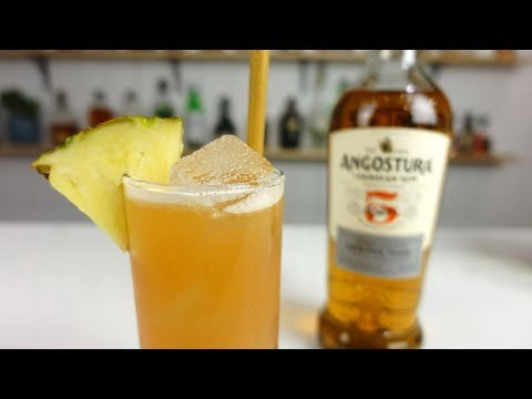 PINEAPPLE FIZZ Cocktail Recipe – Rum Pineapple Tropically Goodness!