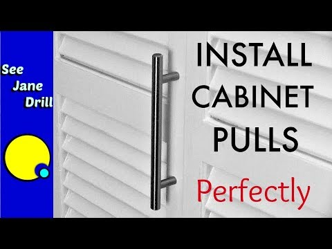 How to Install Perfectly Spaced Cabinet Door Pulls